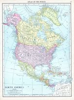 North America, World Atlas 1913